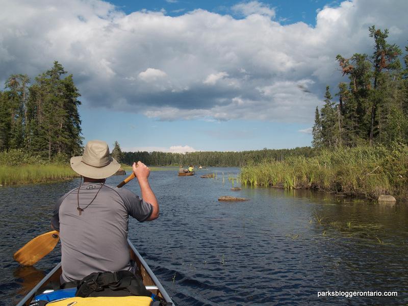 Paddling at Woodland Caribou Provincial Park