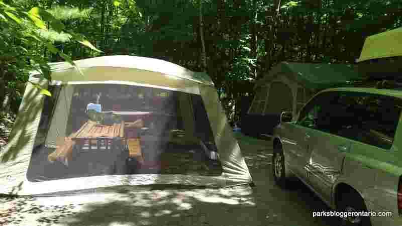 Kilcoursie campsite at Killbear provincial park