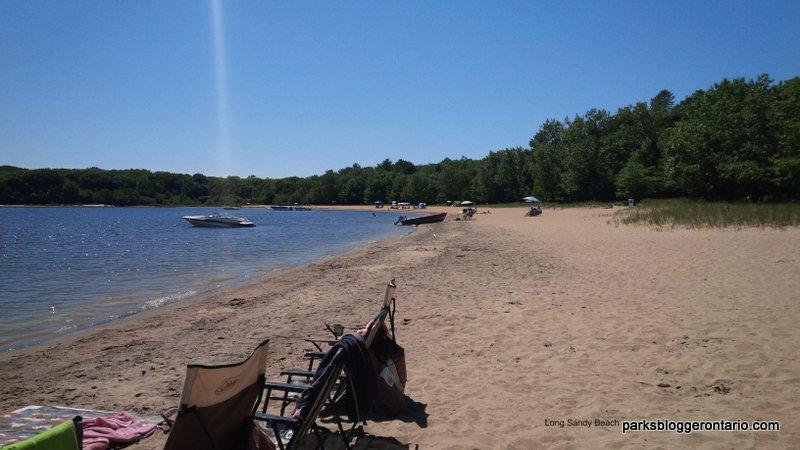Sandy beach at killbear provincial park