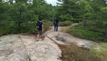 Hiking the northern trails of Beausoleil Island