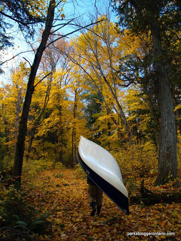 Portaging in Algonquin in Autumn