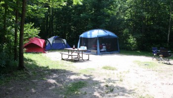 Camping in Brent campground – Algonquin
