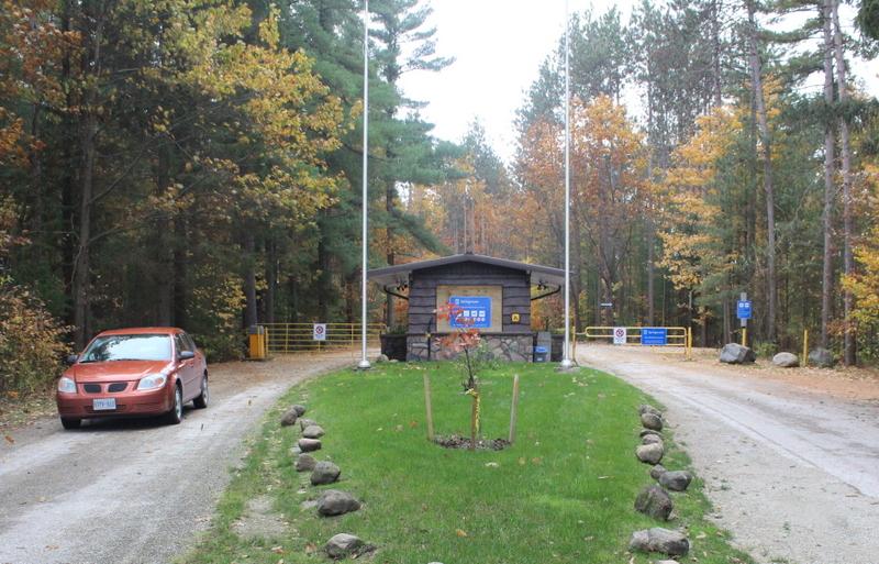 Springwater provincial park entrance