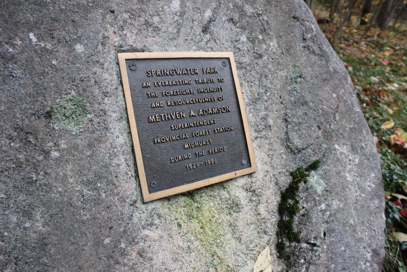 springwater provincial park - honouring plaques
