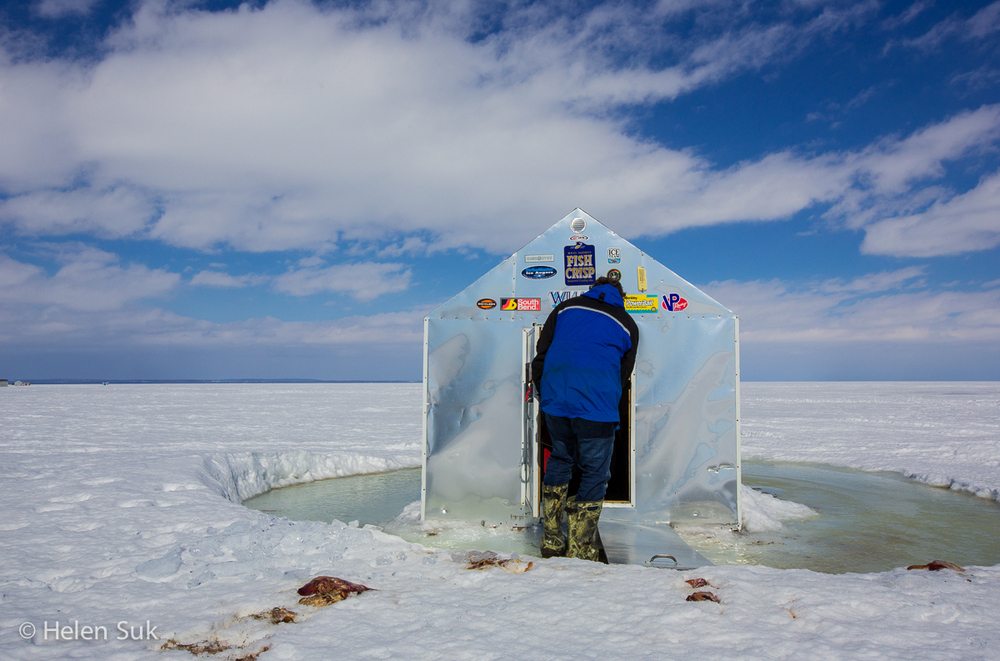 photo essay ice fishing made easy at lake simcoe