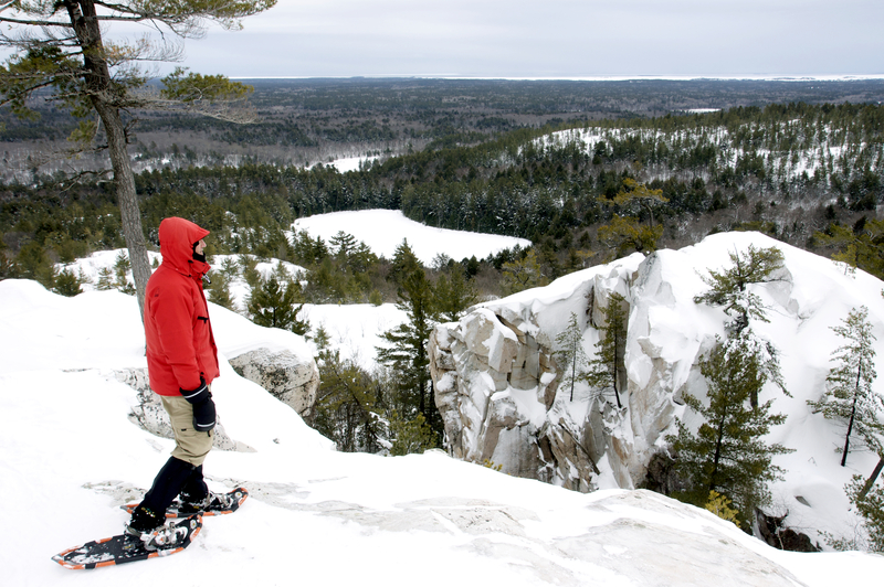 Snowshoeing in Killarney Provincial Park
