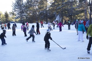 Outdoor skating at Algonquin winter in the wild festival