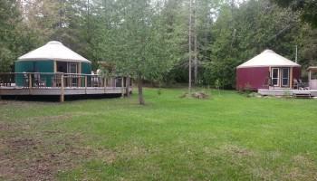 Yurts (outside view)