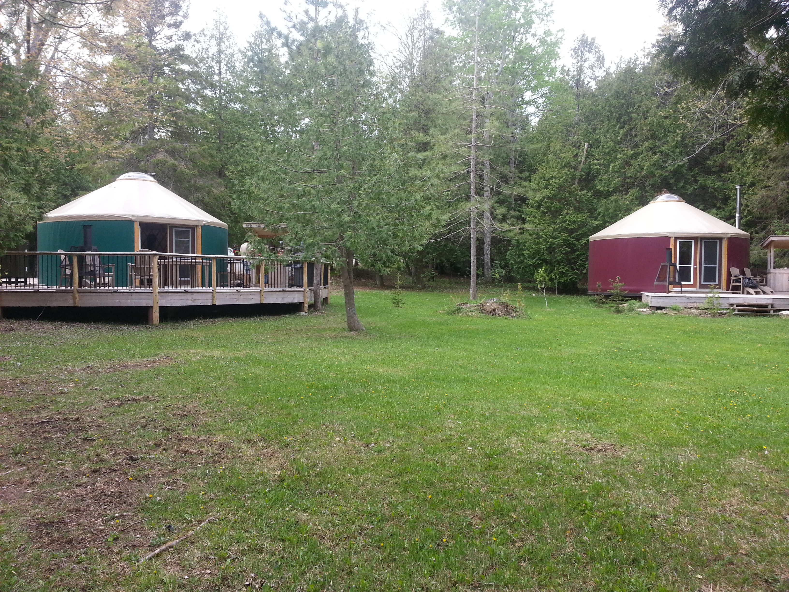 Cyprus Lake Yurts, Bruce Peninsula National Park
