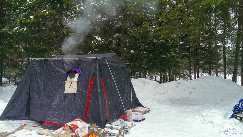 winter hot tent at mew lake c&ground in algonquin provincial park & Algonquinu0027s Mew Lake: A great choice for first-time winter campers