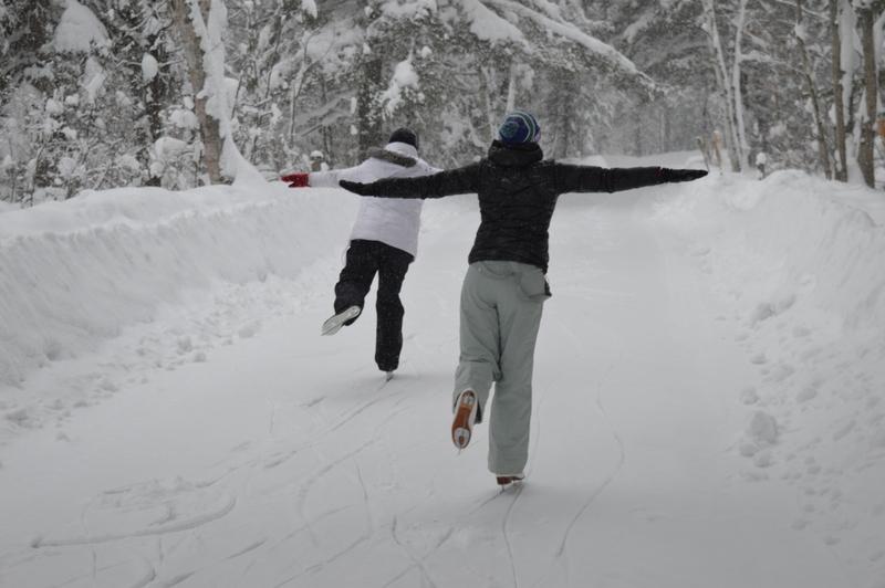 ice skating at arrowhead provincial park