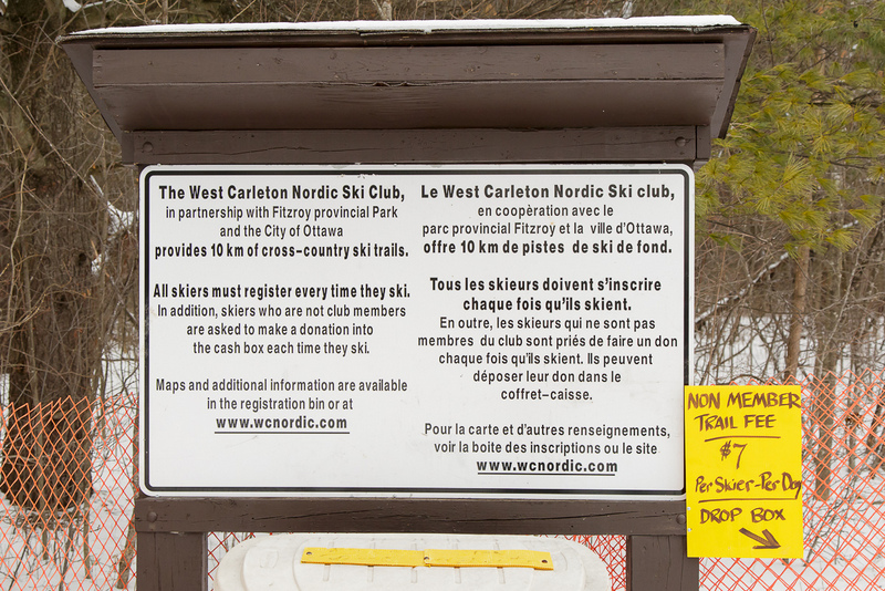 west carleton nordic ski club ski trail in fitzroy