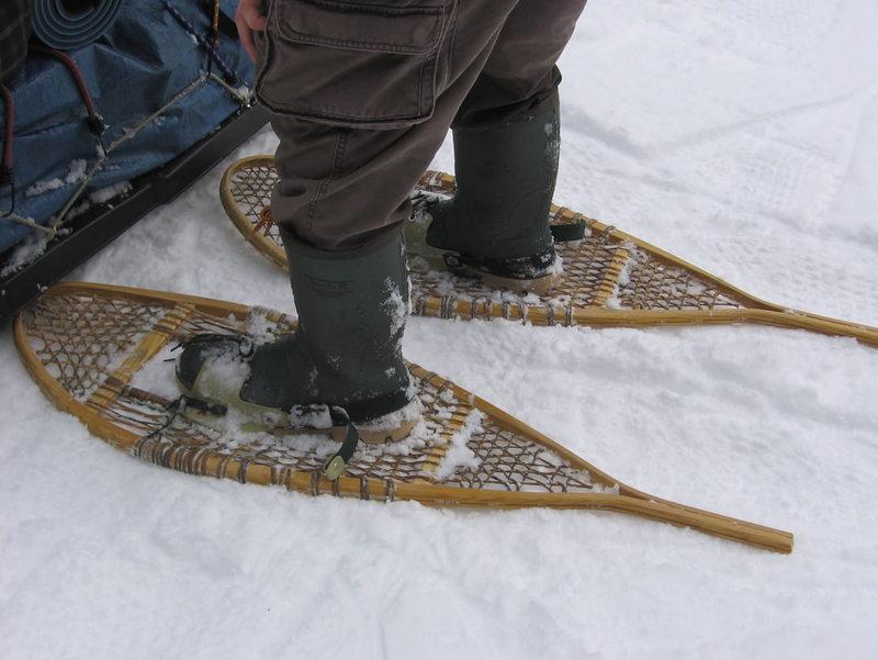 wooden snowshoe