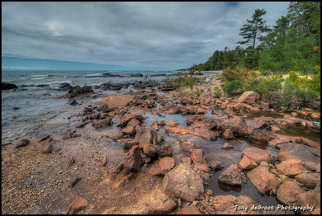 The shoreline on Lake Superior