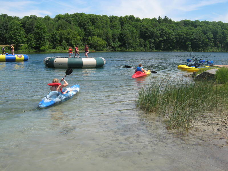 Paddle Boats and Water Trampolines at Logosland waterpark