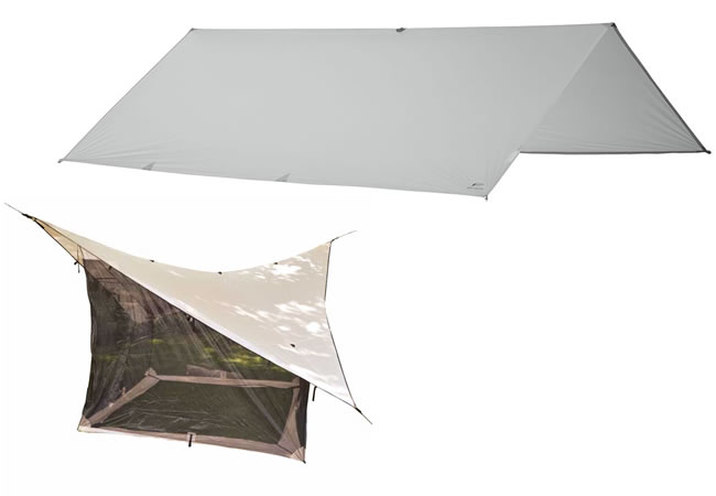 MEC Silicon Guides Tarp and Eureka Backpacker VCS 16