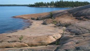 Rocky shores at Killbear provincial park