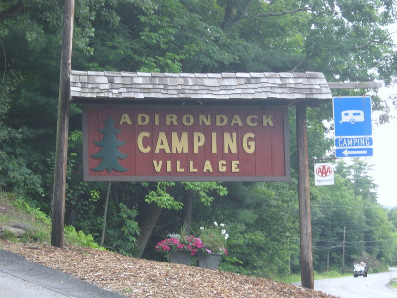 Adirondack Campground entrance