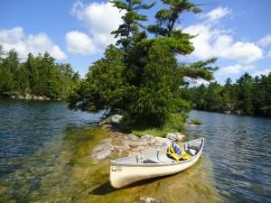 Canoeing at Charleston Lake Provincial Park
