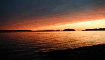 Sunset at Killbear provincial park