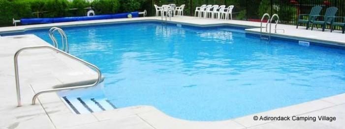 Swimming Pool at Adirondack Camping Village