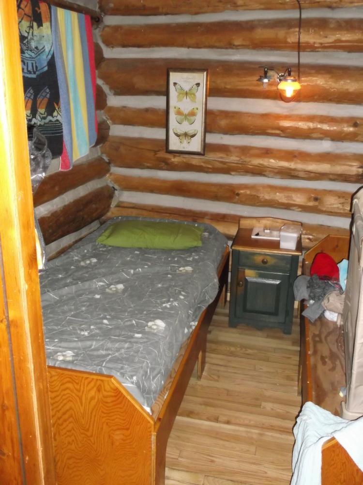 rain lake ranger cabin interior