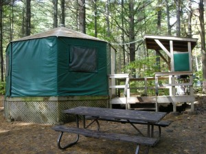 Yurts at Bon Echo Provincial Park Ontario