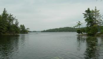View of Charleston Lake from Slim Bay Bridge