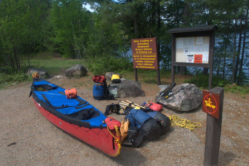 Vehicle access at McManus Lake - end of paddling trip - Petawawa - Algonquin