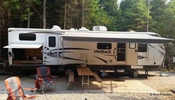 Trailer camping (35 foot trailer) at Homes Bay campground