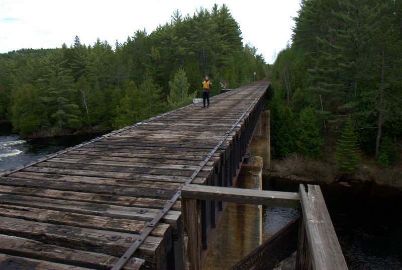 Abandoned CN railway bed in the section between Cedar Lake Brent access point and Lake Travers, Algonquin