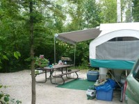 few years ago with the pop-up – so private (Gunn Point Campground)