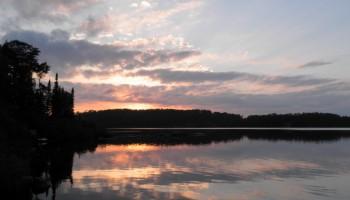 Sunset on French Lake