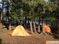 campsite at Opalescent Lake