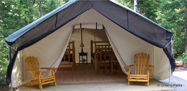 Deluxe Tent at Arrowhead provincial park & Ontariou0027s Best Glamping Destinations