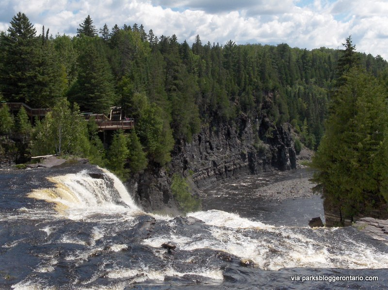 Several viewing platforms above the falls and along the canyon let you get so close you can feel the spray from Kakabeka