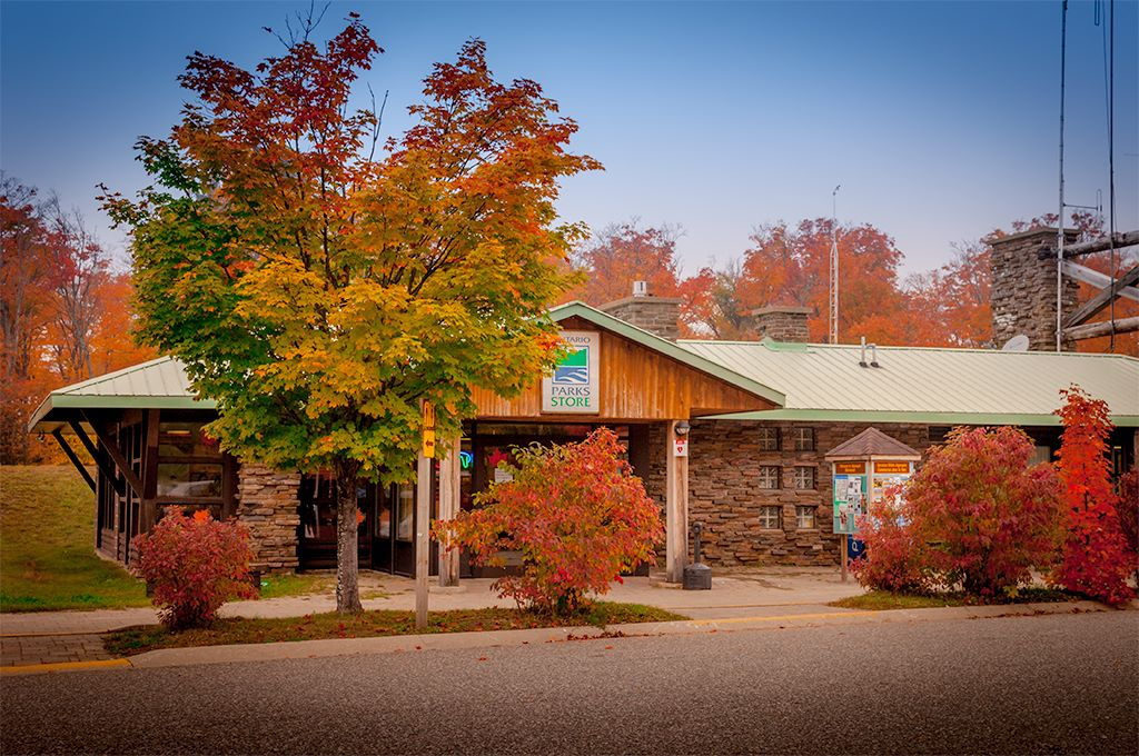 Algonquin Ontario Parks Store during Fall