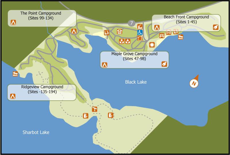Sharbot Lake PP Map
