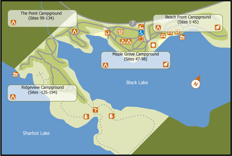 White Dog Ontario Map
