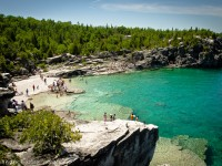 bruce peninsula national park rocky swimming area