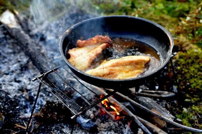 frying walleye - backcountry camping recipies