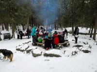 Winter Hiking at Hilton Falls and Campfire Pit