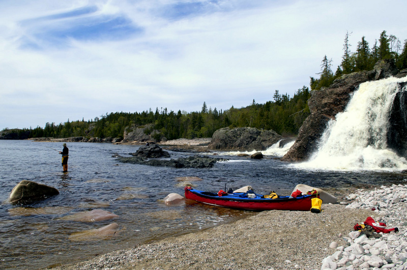 My favorite campsite - Cascade Falls - Lake Superior - Pukaskwa National Park (8)
