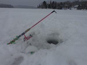 ice fishing at Windy lake