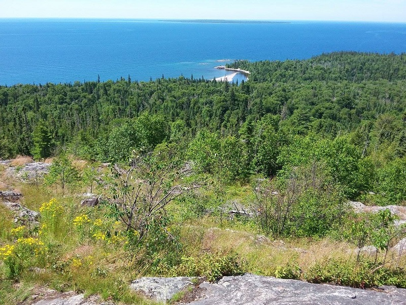 Beautiful lookout on Orphan Lake Trail, Lake Superior Provincial Park