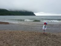 Stormy day at Old Women Bay beach