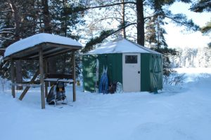 Algonquin Mew Lake Winter Yurt