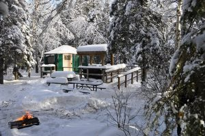 Windy Lake Yurt in Winter