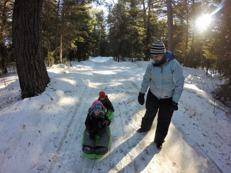 Algonquin Sled Rides at Mew Lake Yurt Camping
