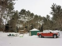 Winter Yurt Camping at Mew Lake, Algonquin